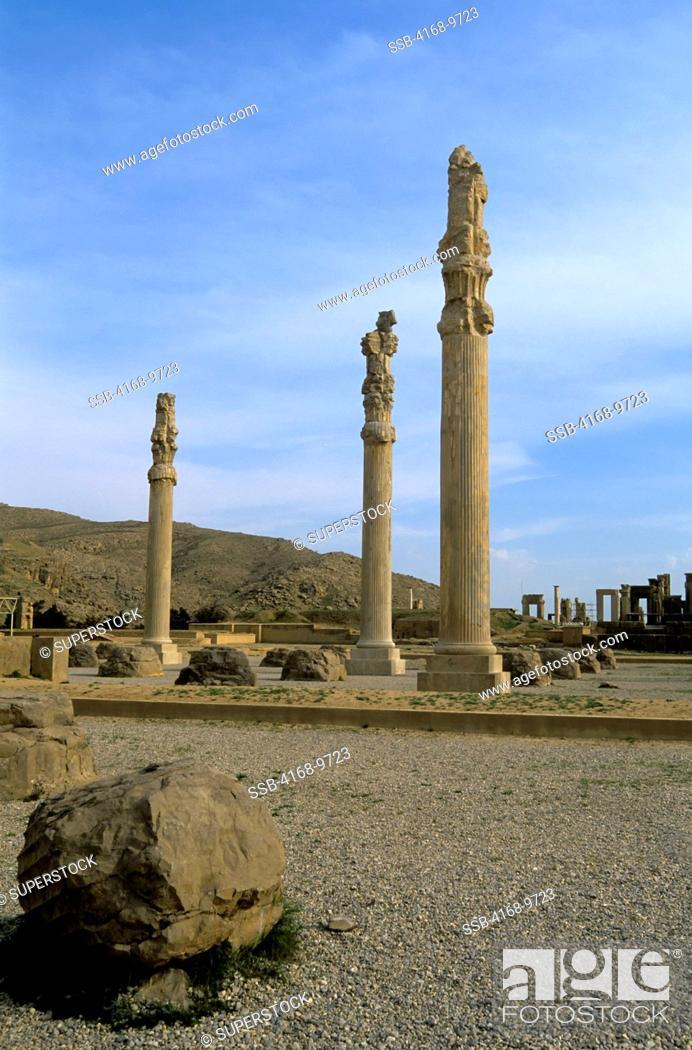 Iran Near Shiraz Persepolis Remains Of Apadana Palace Stock Photo Picture And Rights Managed Image Pic Ssb 4168 9723 Agefotostock