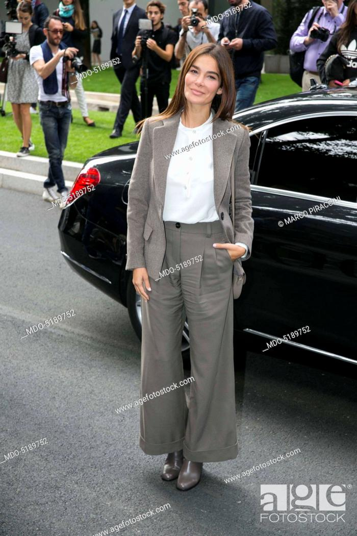 Stock Photo: Actress and TV host Ilaria Spada during the Milano Fashion Week (21st-27th September). Milan (Italy), 23rd September 2016.