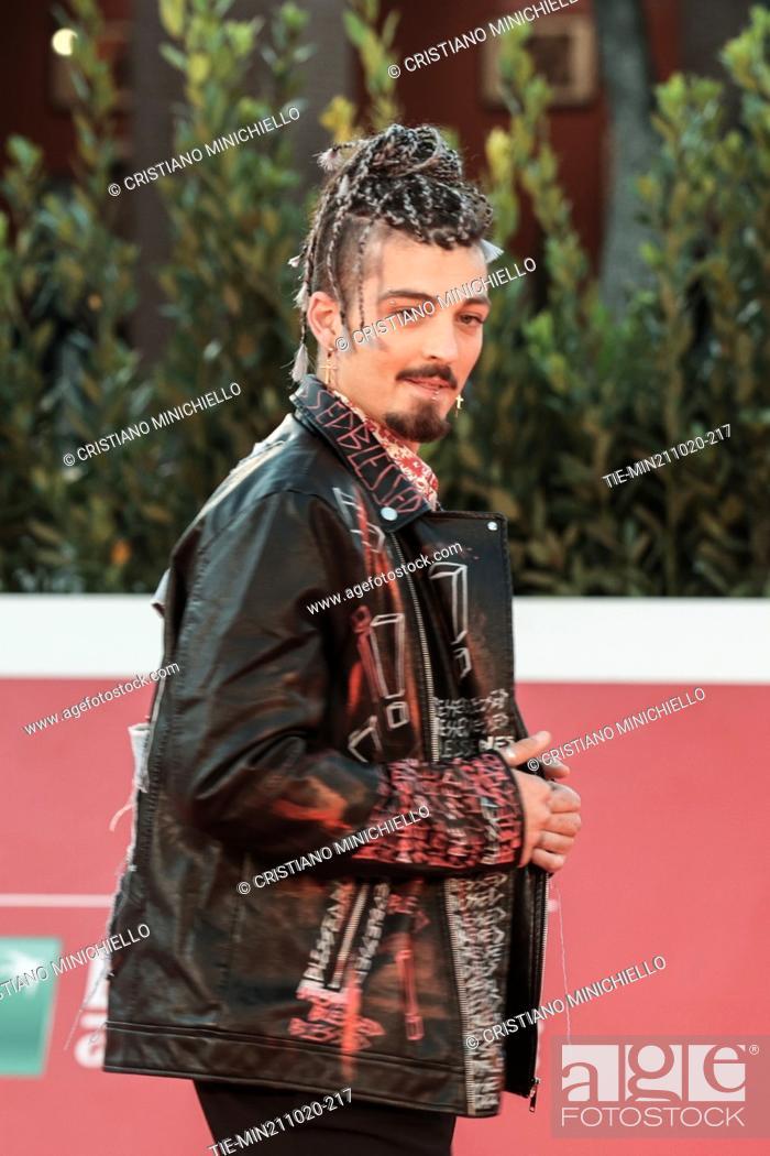 Stock Photo: Daniele Rommelli on Red carpet of film 'Maledetta primavera' at the 15th Rome Film Festival, Rome, ITALY-21-10-2020.