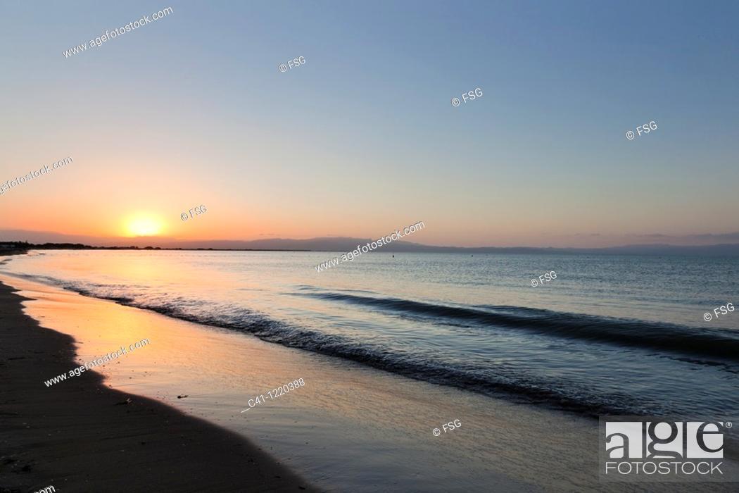Stock Photo: La Marquesa Beach  Delta of Ebro River  Tarragona, Spain.