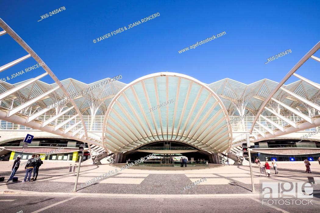 Stock Photo: Gare do Oriente in Parque das Nações - Oriente station in Park of the Nations - from Santiago Calatrava architect, Lisboa, Portugal.