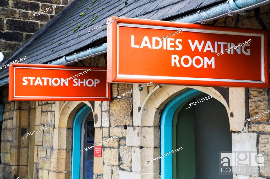 Stock Photo: Station Shop and Ladies Waiting Room Grosmont Yorkshire England.