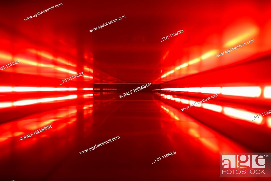 Stock Photo: An abstract corridor in red tones.