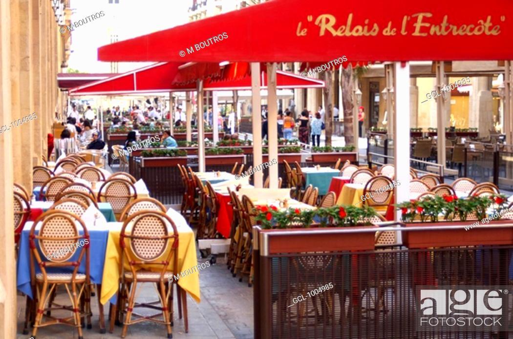 Stock Photo: Restaurants in Beirut Down Town, Lebanon.