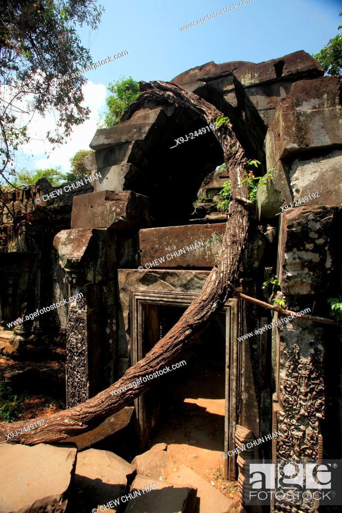 Stock Photo: Beng Mealea Temple, UNESCO World Heritage Site, Siem Reap Province, Cambodia.