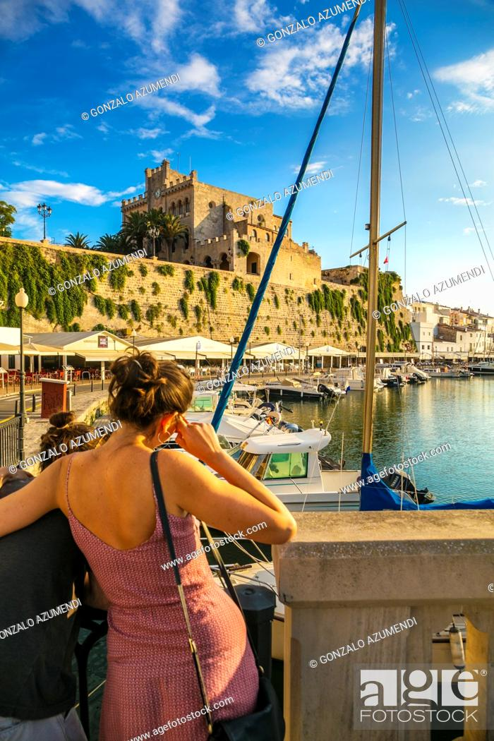Stock Photo: Port. Ciutadella. Minorca. Balearic Islands. Spain.
