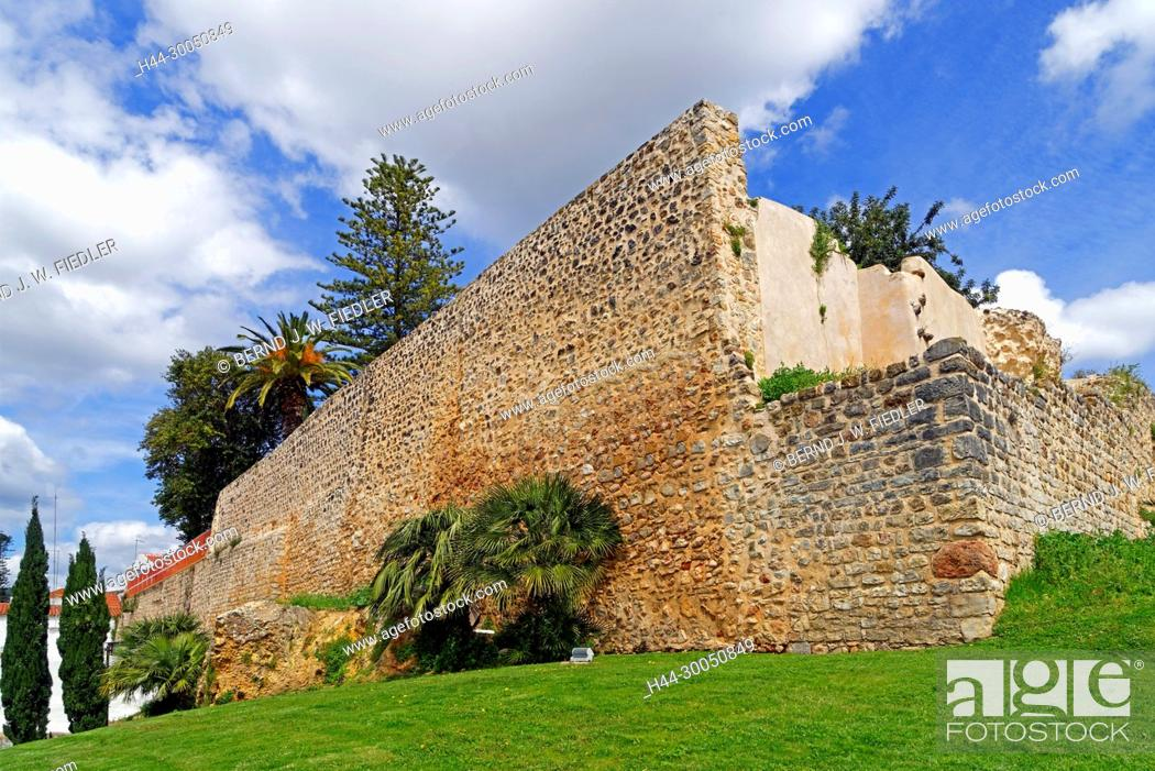 Stock Photo: Fortress wall, Castelo de Loulé, Loulé Portugal,.