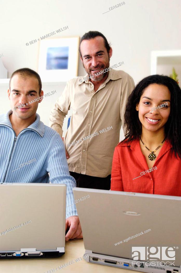 Stock Photo: Work team.