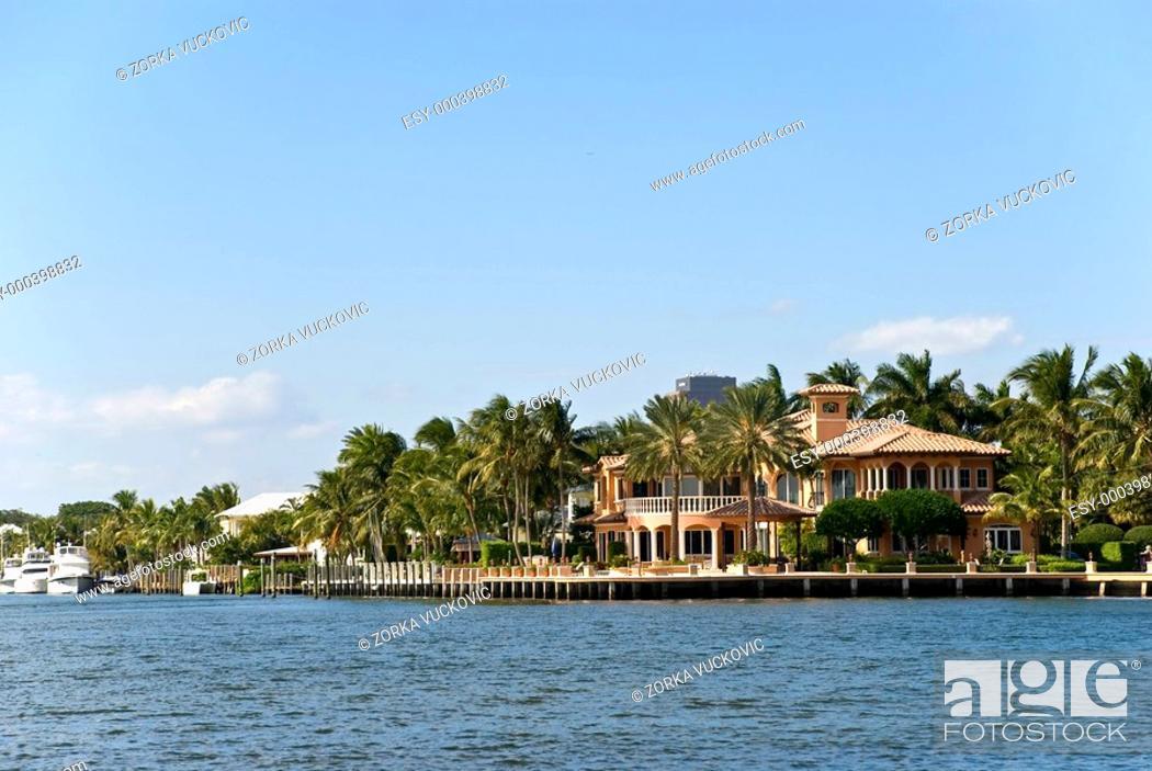 Stock Photo: Luxus Villa in Fort-Lauderdale.