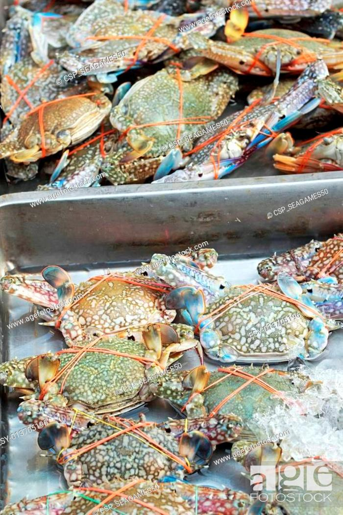 Stock Photo: Fresh crab in the market.