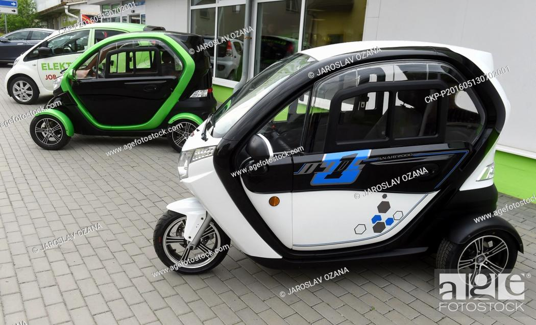 Stock Photo: Czech company Velor-X-Trike launched its electric three-wheelers and four-wheelers produced in cooperation with its Chinese partners on the market today.