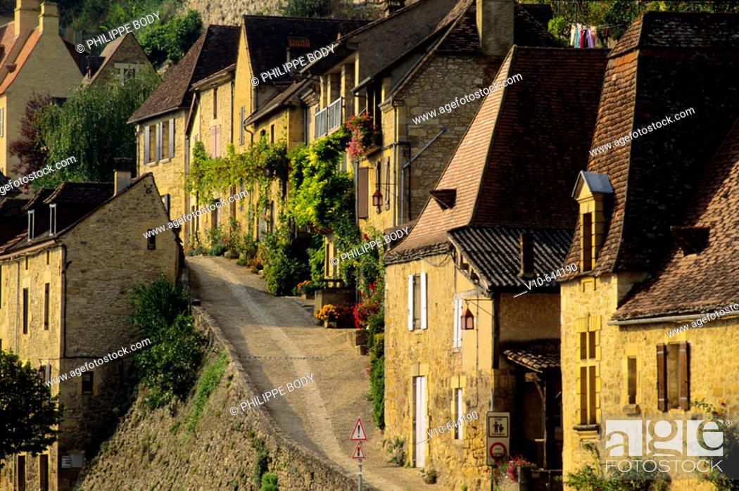 Stock Photo: Village of Beynac, Dordogne, France.