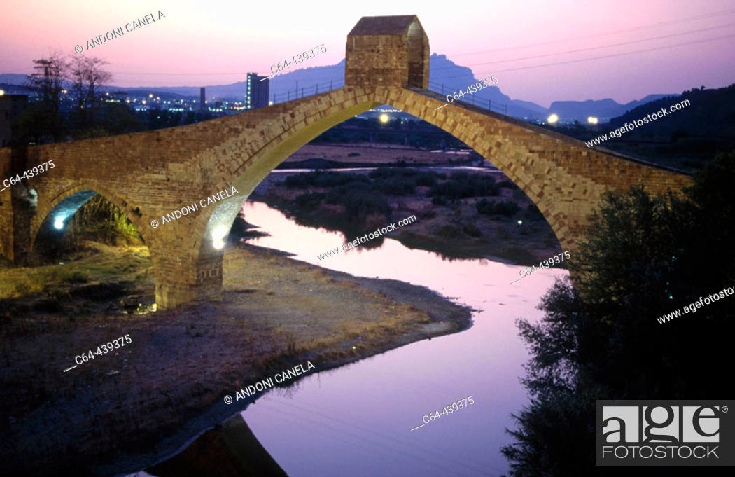 Stock Photo: Pont del Diable (Devil's Bridge). Martorell, Barcelona province, Catalonia, Spain.