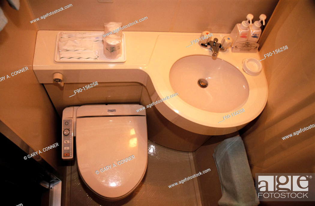 Imagen: Toilet with control panel on side. Kobe. Japan.