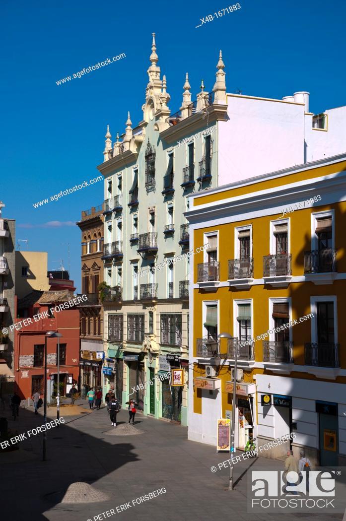 Stock Photo: Plaza de la Encarnacion square Seville Andalusia Spain.
