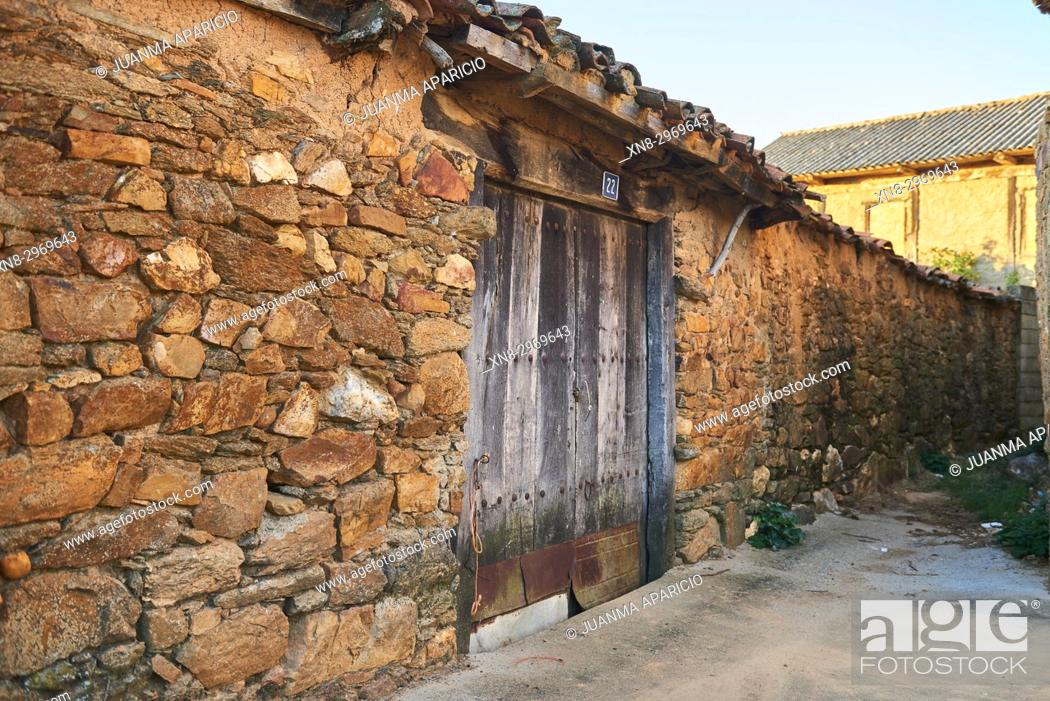 Stock Photo: Town of Villalverde, Province of Zamora, Castilla y Leon, Spain, Europe.