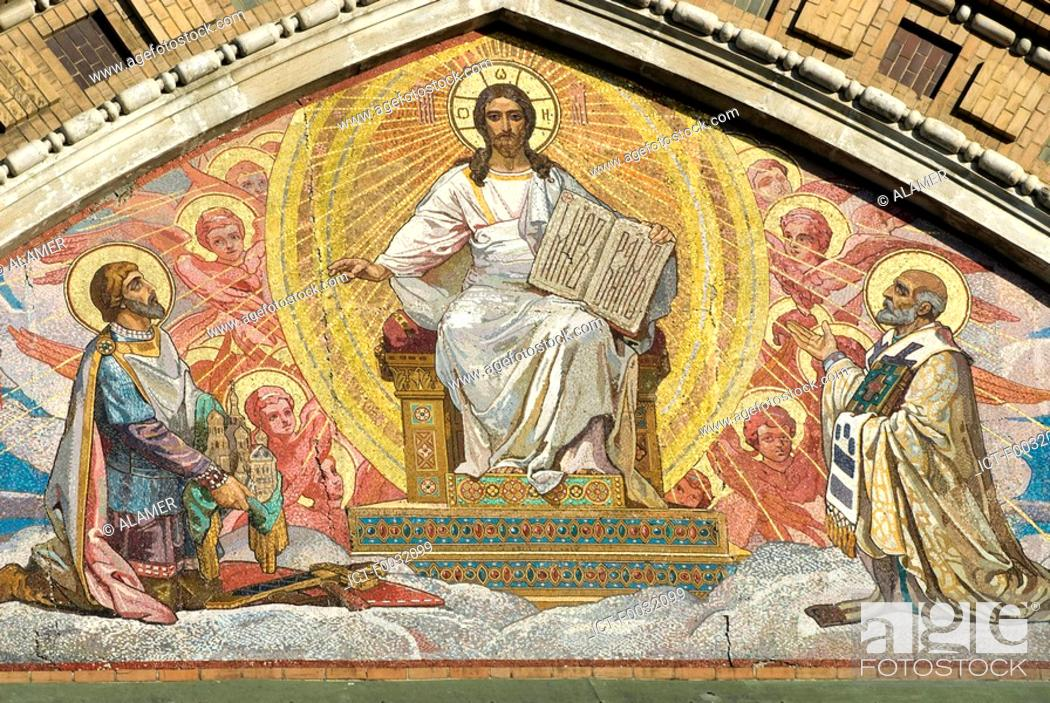 Stock Photo: Russia, St Petersburg, the church of ressurection, mosaic.