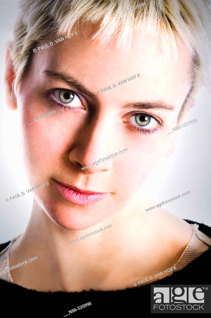 Stock Photo: Young model female headshot.