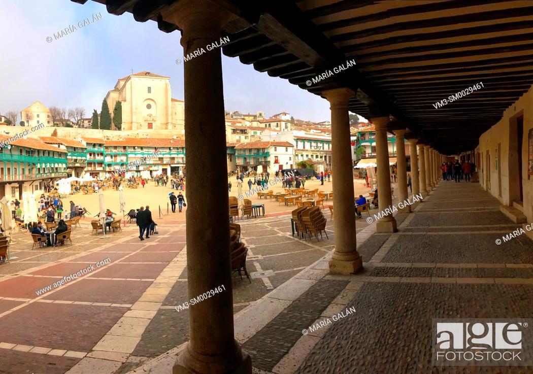 Stock Photo: Plaza Mayor. Chinchon, Madrid province, Spain.