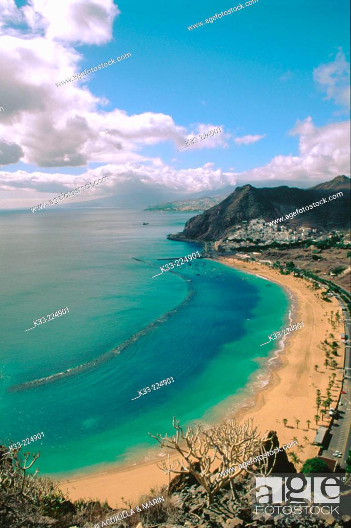 Stock Photo: Teresitas Beach. Tenerife Island. Canary Islands. Spain.
