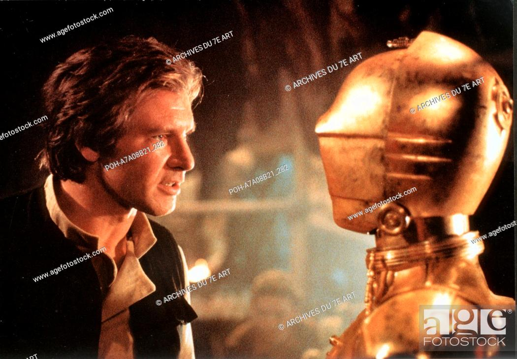 Stock Photo: Star Wars: Episode VI - Return of the Jedi  Year : 1983 USA Harrison Ford, Anthony Daniels Director: Richard Marquand. It is forbidden to reproduce the.
