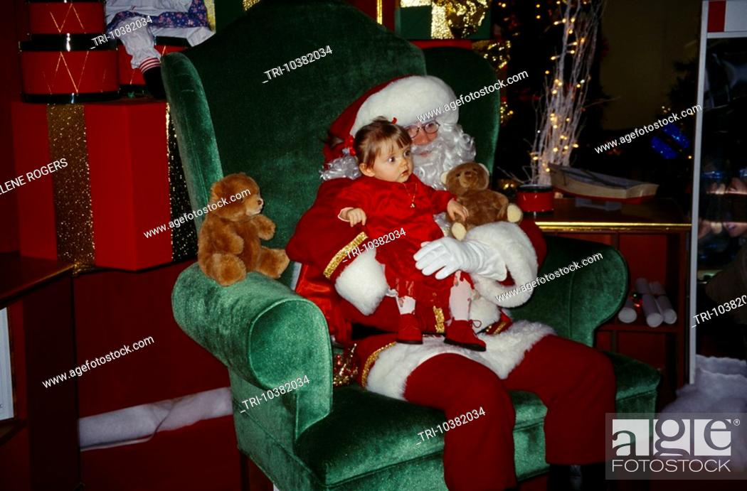 Calais France Cite Europe Mall Le Pere Noel Father Christmas Stock