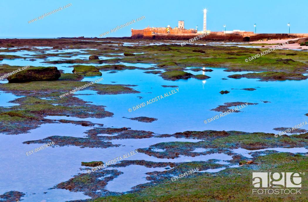 Stock Photo: Beach of La Caleta of Cadiz.