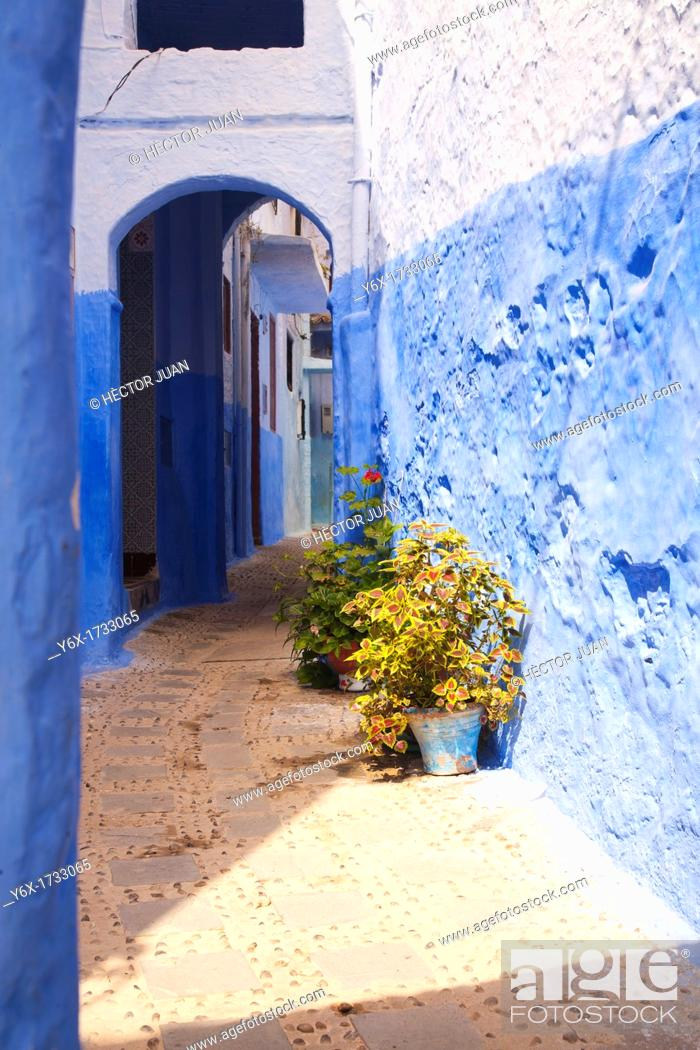 Stock Photo: A street in Chaouen.