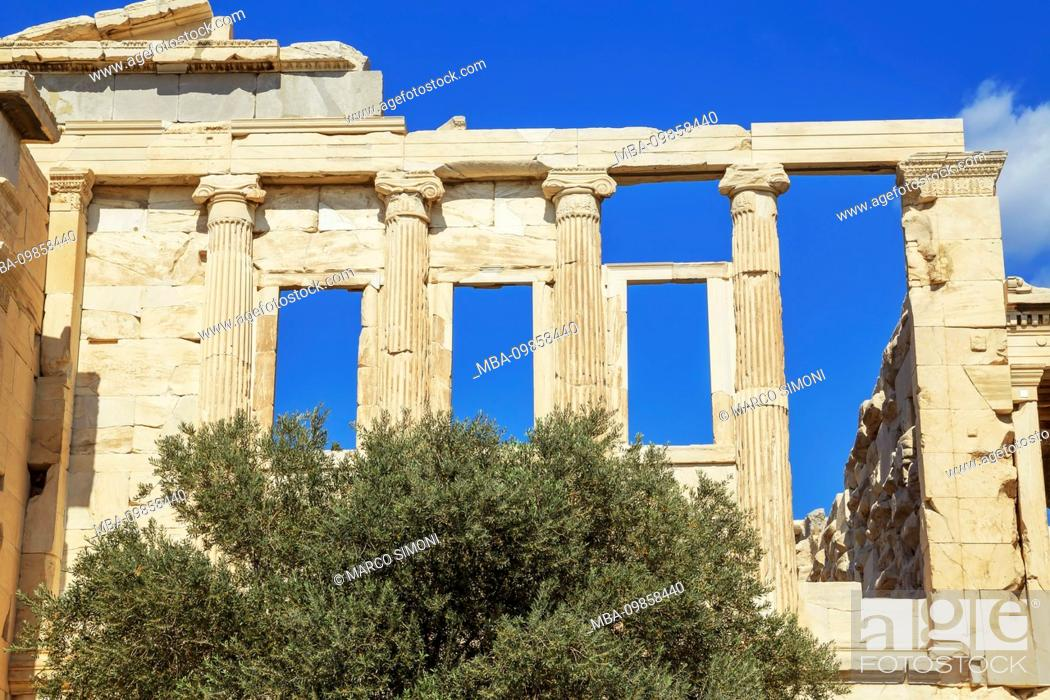 Stock Photo: Erechtheion Temple, Acropolis, Athens, Greece, Europe,.