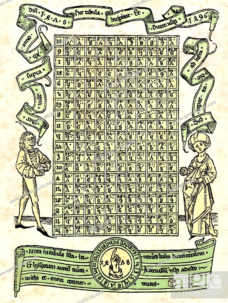 Il Calendario Giuliano.Calendario Incisione Tratta Da Un Calendario Giuliano