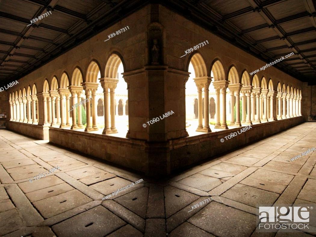 Stock Photo: Claustro. Mosteiro de Sao Bento. Tirso. Portugal.