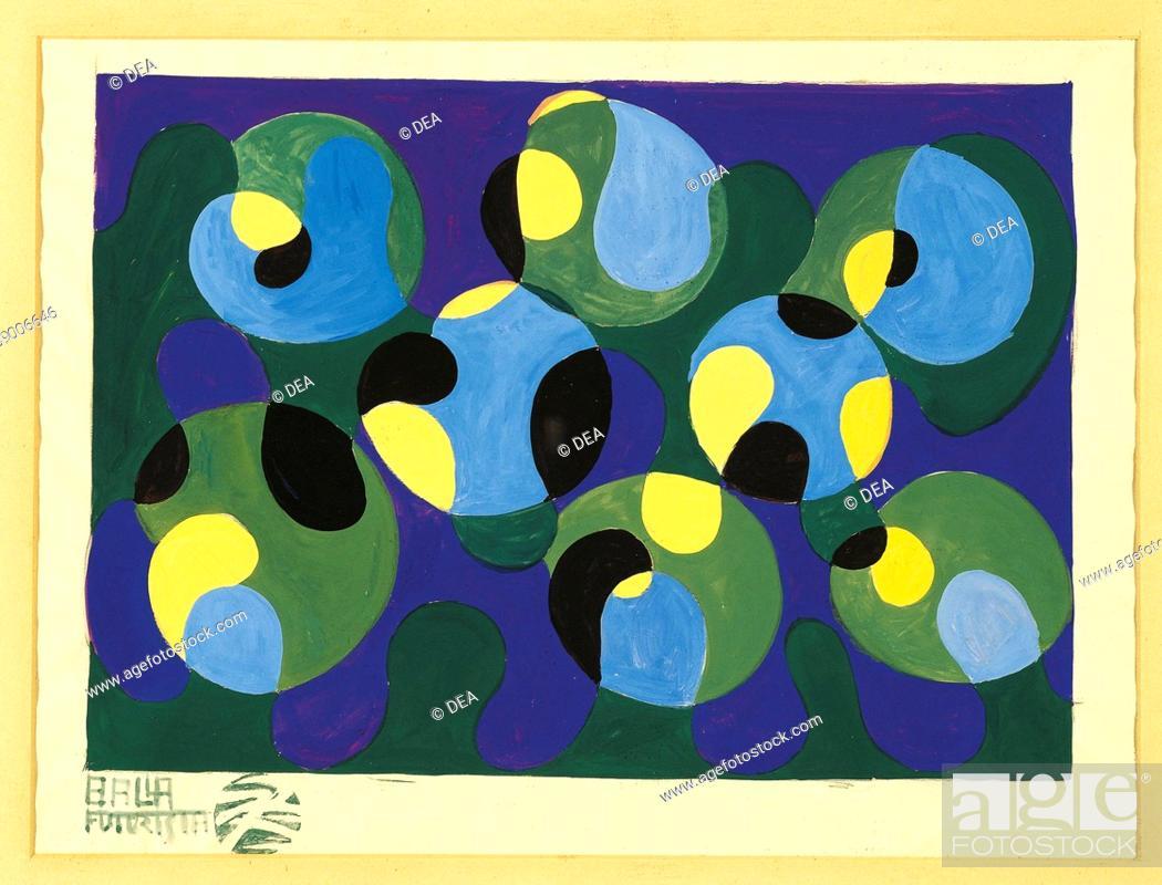 Stock Photo: Giacomo Balla (1871-1958), drawing for textiles, 1925.  Private Collection.