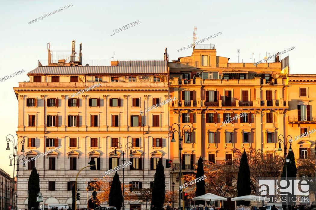 Stock Photo: Buildings near San Giovanni in Laterano, Rome, Italy.