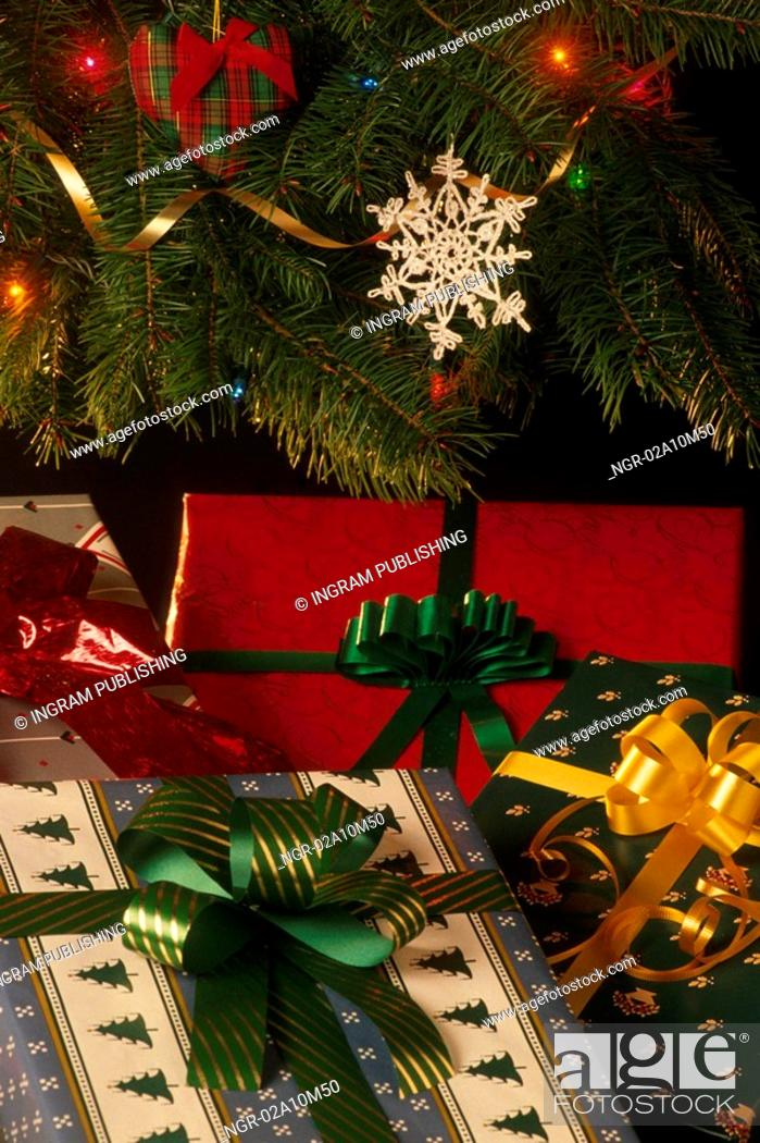 Stock Photo: Presents Under the Christmas Tree.