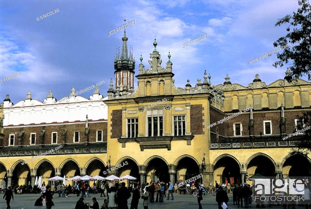 Stock Photo: Poland, Kracow, Cloth Hall.