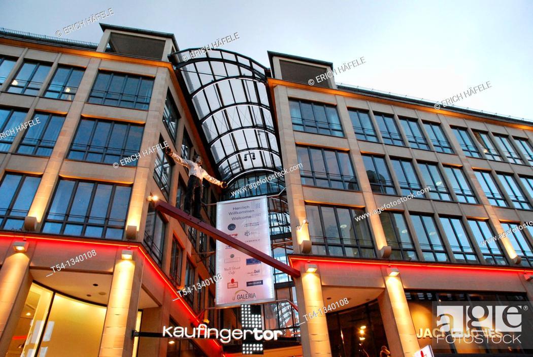 Stock Photo: Neuhauser passage in the pedestrian zone in Munich.