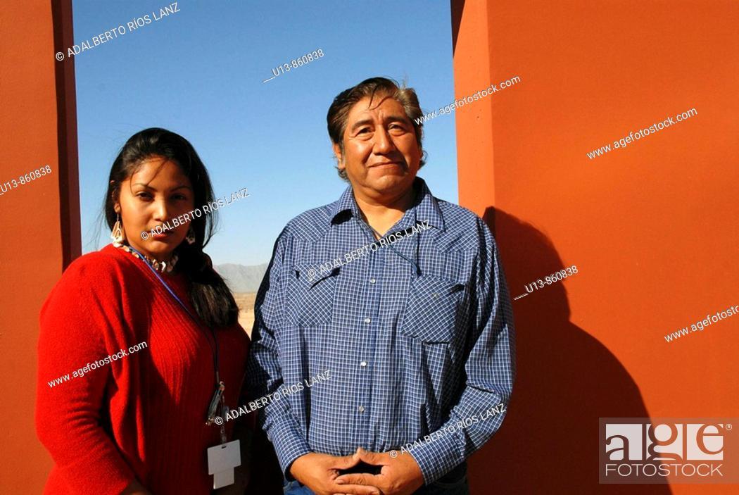 Stock Photo: Huhugam Indian Couple, Chandler,  Arizona, United States.