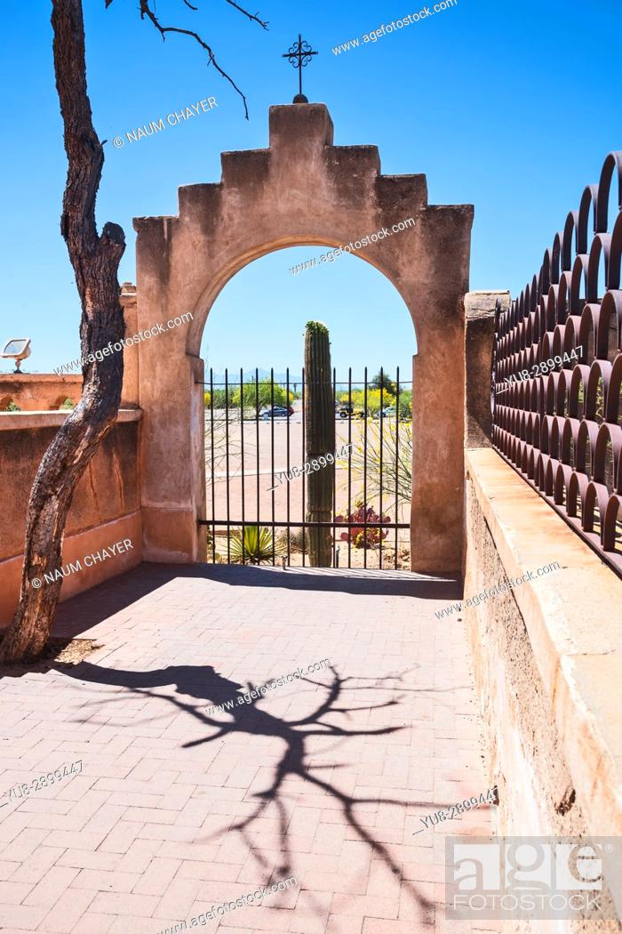 Stock Photo: San Xavier Mission, Tucson , Arizona, USA.