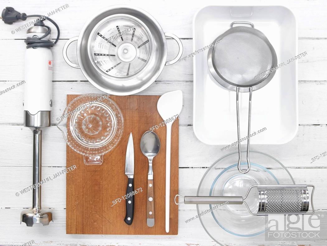 Stock Photo: Utensils for sorbet.