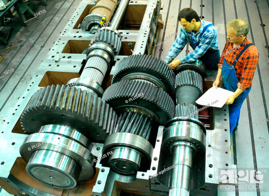 Stock Photo: Assembly gear for an engine drive, which typically might be used in a power station or a rolling mill.