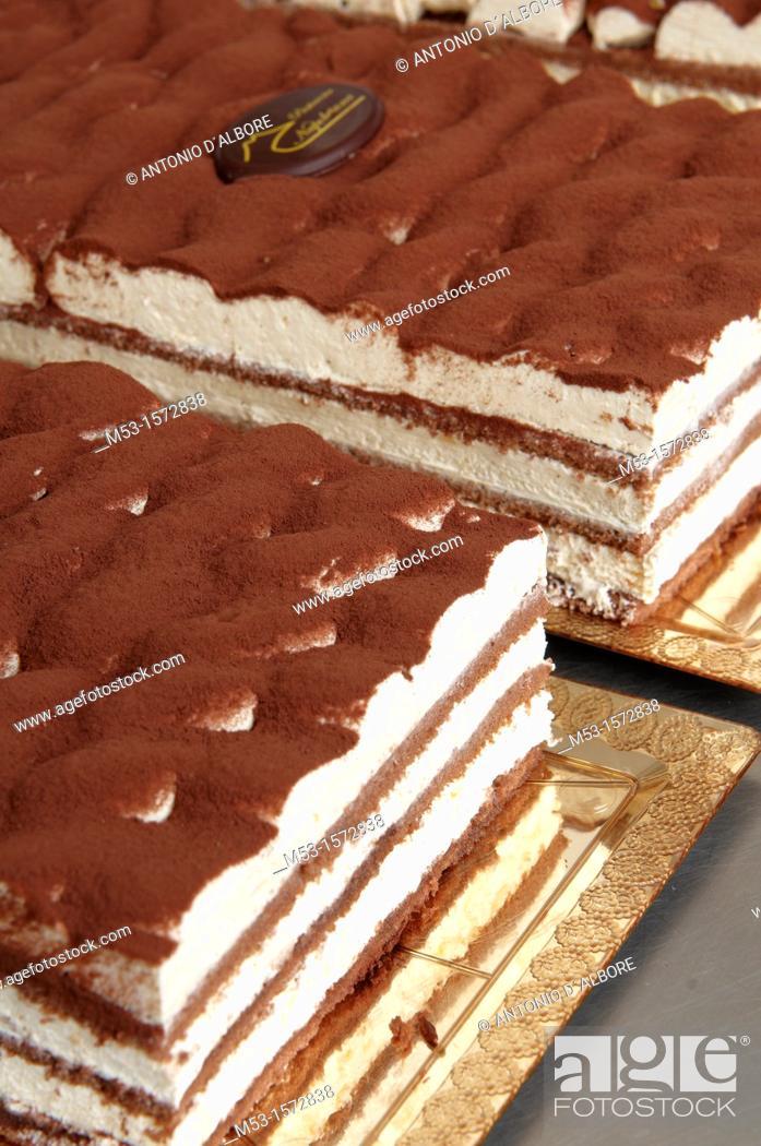 Stock Photo: Tiramisu pastry.