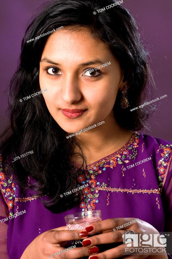 Stock Photo: Indian model in studio setting.