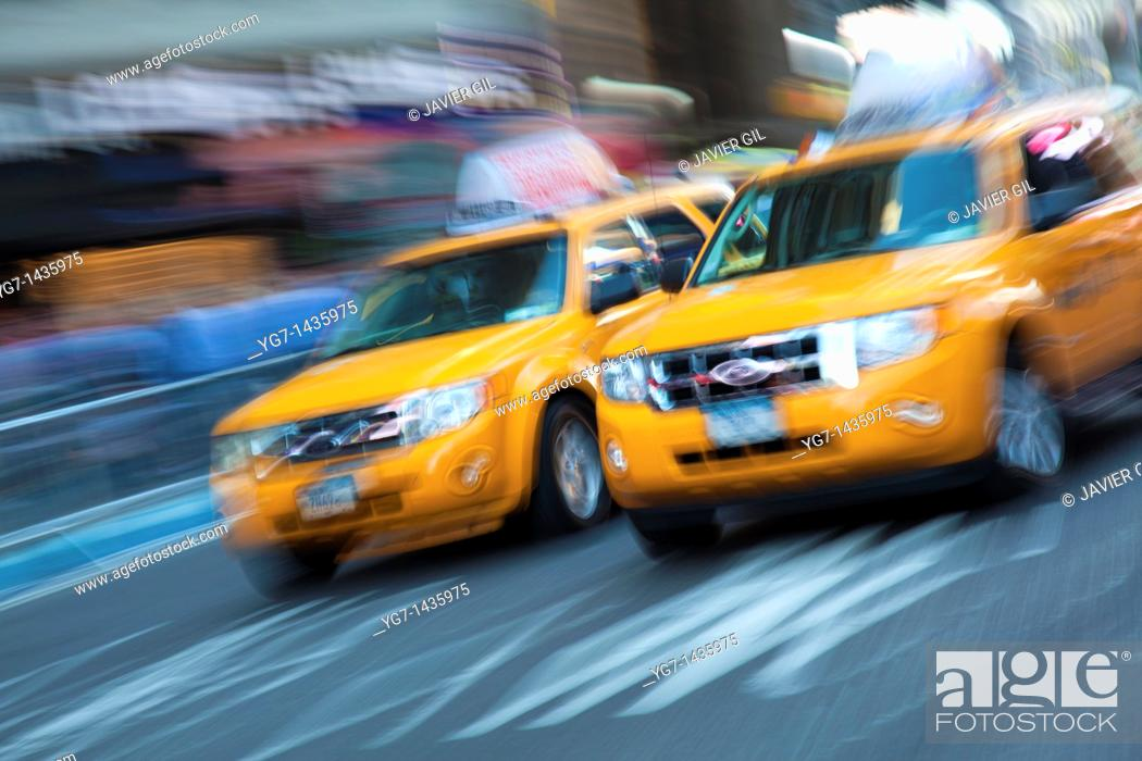 Stock Photo: Taxis In New York, USA.