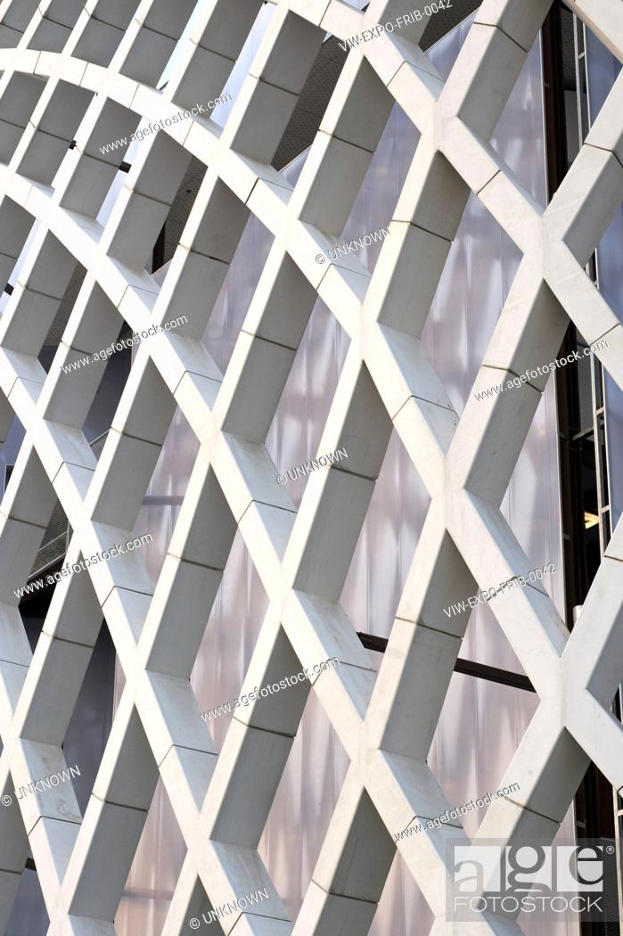 Stock Photo: CHINA. EXTERIOR VIEW OF THE FACADE SHOWING THE TRELLIS DESIGN '.