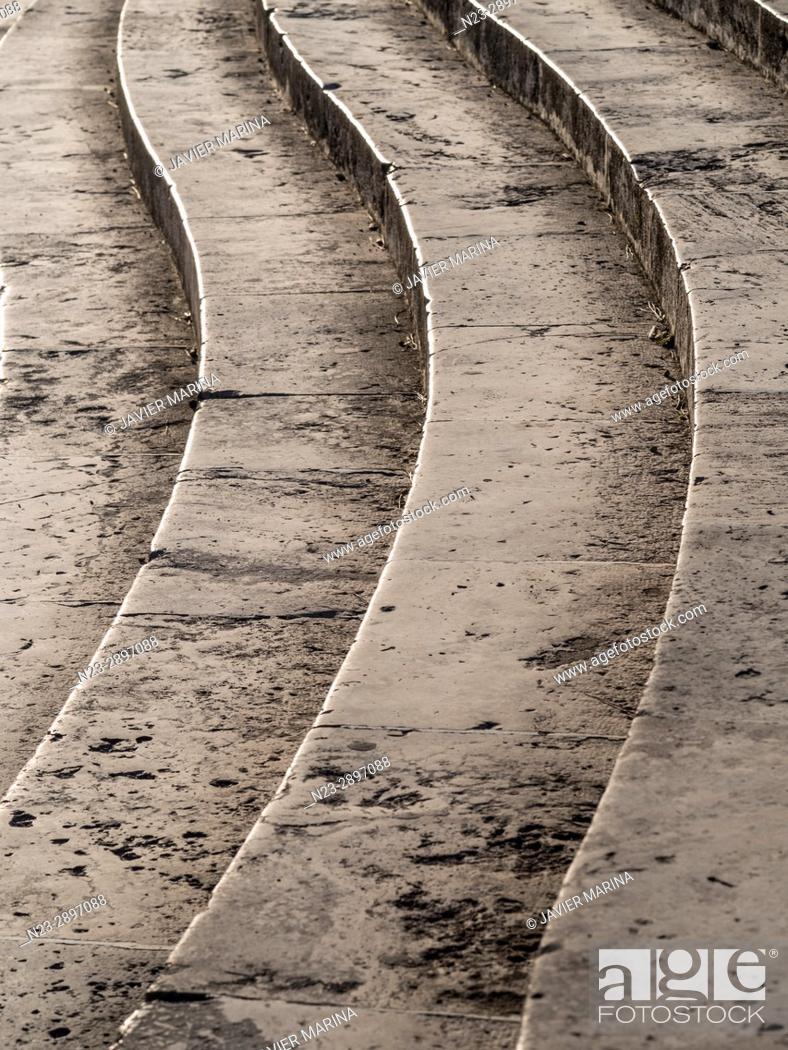 Stock Photo: Stairs in the Pont de la Mar (Bridge of the Sea), Valencia, Spain.