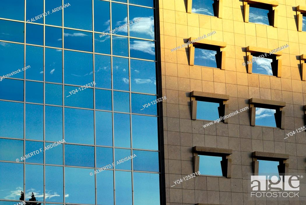 Stock Photo: Building on the Marques de Pombal Square, Lisbon, Portugal.