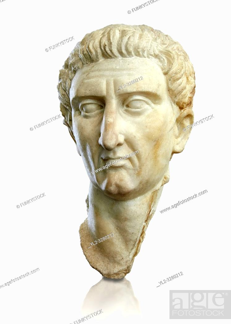 Imagen: Roman Portrait bust of Roman Emperor Nerva, circa 96 to 98 AD excavated from Tivoli. The National Roman Museum, Rome, Italy.