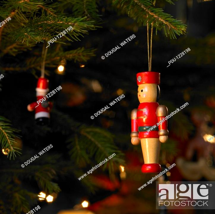 Stock Photo: Close-up of christmas tree decoration.