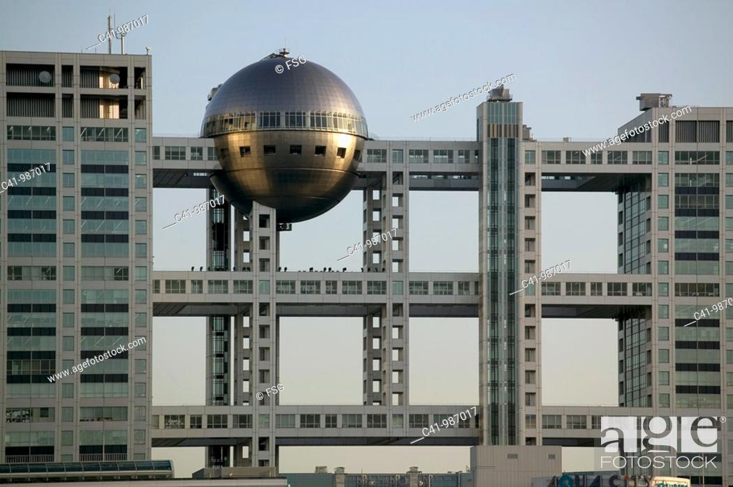 Stock Photo: Fuji TV Building in Odaiba  Tokio, Japan.