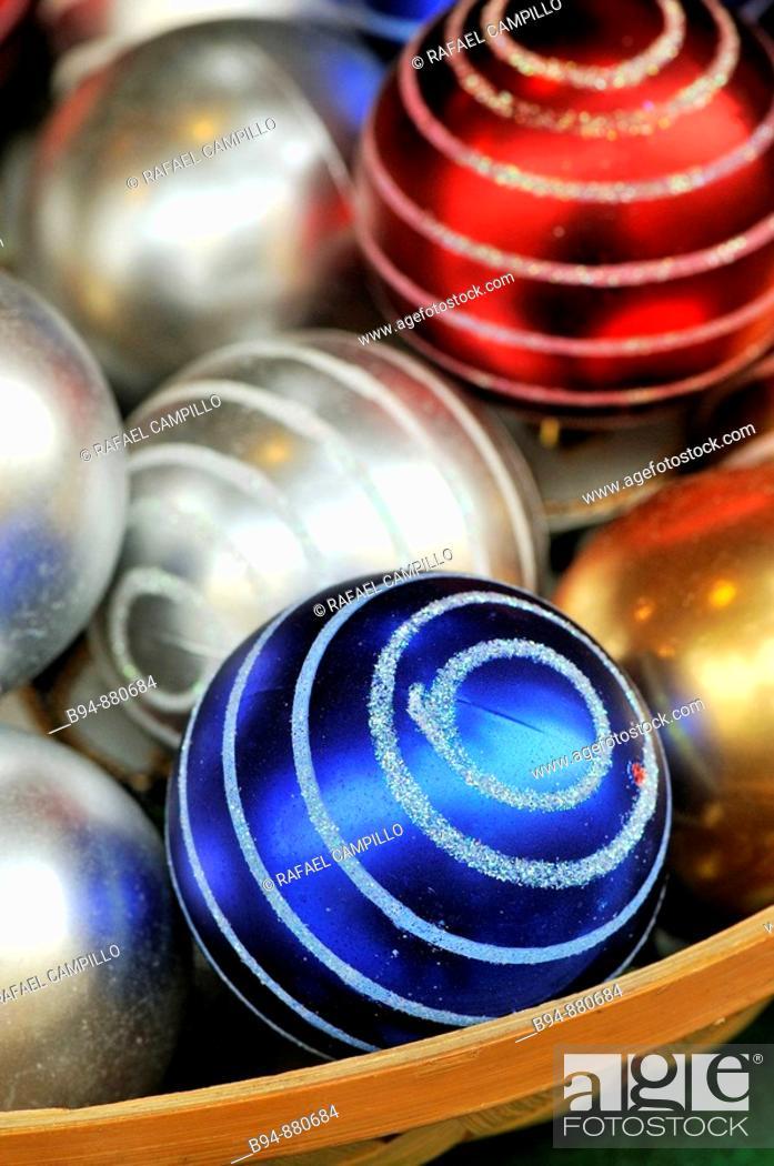 Stock Photo: Christmas balls.
